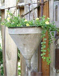 Vintage Galvanized Funnel Tractor Part Farmhouse Decor Industrial Barn Salvage Fixer Upper Decor EXTRA LARGE