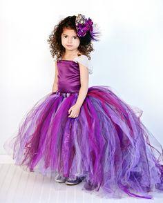 34.30$  Buy now - https://alitems.com/g/1e8d114494b01f4c715516525dc3e8/?i=5&ulp=https%3A%2F%2Fwww.aliexpress.com%2Fitem%2FPurple-Flower-Girl-Dress-Detachable-Train-Tulle-Dress-and-Satin-Top-Girl-Tutu-Dress-For-Wedding%2F32463997257.html - Purple Flower Girl Dress Detachable Train Tulle Dress and Satin Top Girl Tutu Dress For Wedding Birthday Girl Party Dress 34.30$