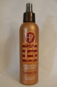 30fd4050914d California Tan Heliotherapy Dark Tanning Dry Oil Spf 6 8oz -- Check out  this great