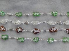 Genuine sea glass bracelets with silver-plated findings Sea Glass, Silver Plate, Inspired, Beach, Bracelets, Jewelry, Jewlery, Silverware Tray, The Beach