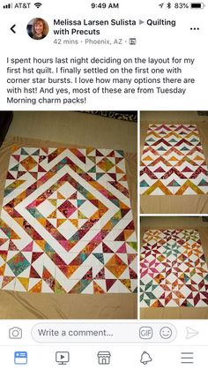 Short-cuts for making and squaring-up multiple Half Square Triangle Quilt Blocks at once.