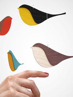 Tinker paper birds - a very easy guide - Vogel mobile - Diy Jewelry Rings, Diy Jewelry Unique, Diy Jewelry Making, Bird Paper Craft, Paper Birds, Paper Art, Nursery Decor Boy, Woodland Nursery, Mushroom Crafts