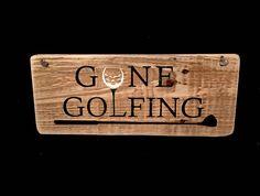 Golfing Sign Gone Golfing Sign Rustic Golf Sign Gift for