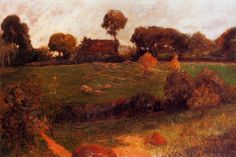 Farm in Brittany, 1886, Paul Gauguin Medium: oil on canvas