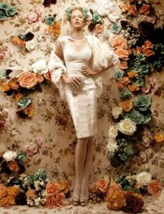 fashion editorial with flowers - Google Search