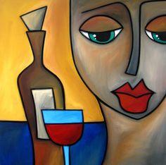 By Myself Painting by Tom Fedro - Fidostudio