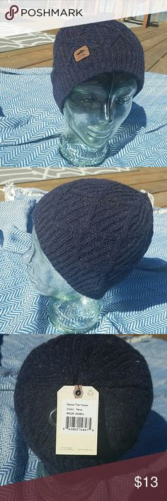 Coal winter hat Navy blue, Coal knitted, winter hat. Unisex with a black ear band sewed on the inside. Comes with a hidden guitar pick! New with tags! All offers considered and please feel free to ask questions! Coal Accessories Hats