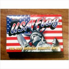 USA Flag Printed 1.5 Cigarette Rolling Papers - Lot of 5 Packs