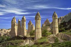 The Fairy Chimneys in Cappadocia.