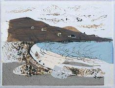 John Piper :: Beach at Donegal, :: mixed media/collage painted en plein air. Collage Landscape, Abstract Landscape, Landscape Paintings, John Piper Artist, Inspiration Artistique, Edward Hopper, Gouache, Mixed Media Collage, Plein Air