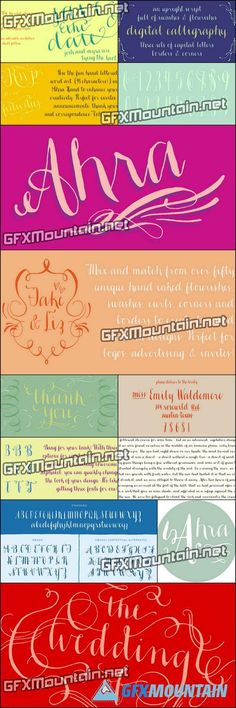 Ahra Font Family - 3 Fonts for $124
