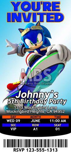 Sonic boom birthday party invitation por dreamsdigital en etsy sonic the hedgehog themed birthday invitations par mysteryboxstudio filmwisefo