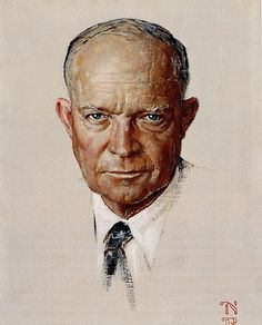 Eisenhower was elected president of the United States. He previously was a very successful commander in WWII.