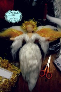 Golden Blonde Shiney Guardian Angel Christmas by Castleofcostamesa