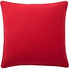 Complete the look of your couch with this Andrew Charles Throw Pillow featuring a solid color design. The red colors will complement your decor while adding extra style to your sofa, chair or bed. This pillow is crafted of cotton.