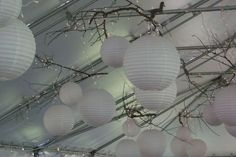 If you go with all one color of paper lanterns, be sure to mix sizes.