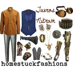 Tavros Nitram by hollowzo on Polyvore featuring мода, Vivienne Westwood, MSGM, Reed Krakoff, Poizen Industries, Bullet, Dita Von Teese, SELECTED, homestuck and steampunk