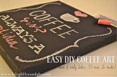 Easy DIY Coffee Art