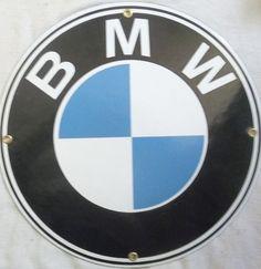 BMW Sign Advertising Fired Porcelain BMW Sign Transportation Automobile European #BMWEuropean