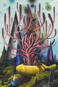 Jeff Soto - Nightgardens II More works from Soto's June 2015 solo exhibit. Spray Painting, Artist Painting, Traditional Tattoo Art, Arches Paper, Magic Realism, Popular Art, Creative Illustration, Pop Surrealism, Visionary Art