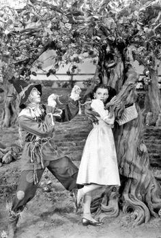 yellow brick road dorothy and the scarecrow in Wizard of Oz. Old Movies, Great Movies, Classic Hollywood, Old Hollywood, Hollywood Stars, Movies Showing, Movies And Tv Shows, Margaret Hamilton, Wizard Of Oz 1939