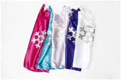 snowflake capes are on sale! $2.00 off! great for #frozen parties or dress-up