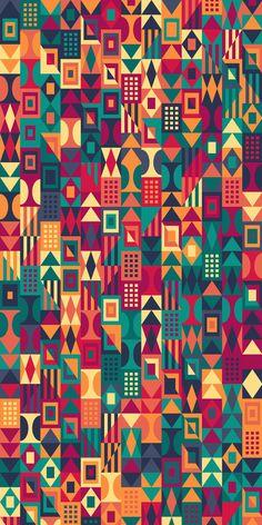 Design Discover UrbanTimber Pattern by Russfussuk Pattern Art, Abstract Pattern, Pattern Design, Pattern Ideas, Colorful Wallpaper, Wallpaper Backgrounds, Iphone Wallpaper Geometric, Tribal Pattern Wallpaper, Screen Wallpaper