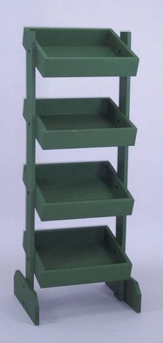 4 Tier Vegetable Bin, Fruit Bin, Wood Display