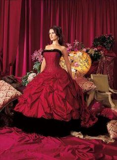 Red And Black Wedding Dresses | Wedding dresses » Black and red wedding dress