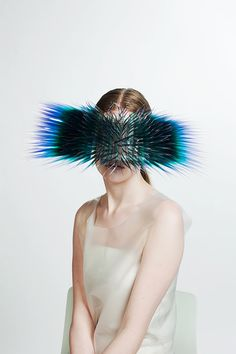 Very cool look for 21st century from Maiko Takeda. Striking fashion statement, if you can carry it! | we love fashion innovation at groovygap.com | #fashionStatement #strikingWearbles