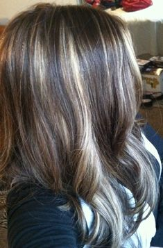 Partial foil Highlights on Pinterest | Foil Highlights, Cool Blonde ...