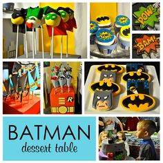 Batman Dessert Table