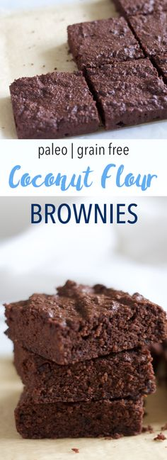 Coconut Flour Brownies | Dense and fudgy!