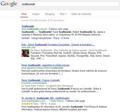 Recherche sur Szalkowski dans encrypted.google.com