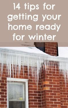 The cold can wreck havoc on your home! Here are 14 easy tips and tricks for getting your home ready for winter. home improvement hacks