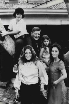 John Wayne and his family