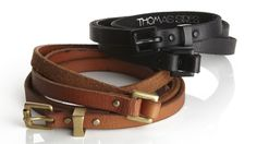 Double-Wrap Belts by Thomas Sires by
