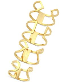 Vince Camuto Gold-Tone Set of 4 Open Cuff Rings