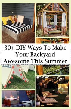 30+ DIY Ways To Make Your Backyard Awesome This Summer | Tips For Women