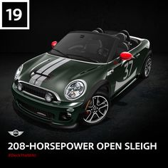 We added 207 horses and put them in a more manageable, high-speed package. Click to put your own spin on this John Cooper Works Convertible. #DeckTheMINI