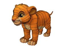 The Lion King II: Simba's Pride - Kiara Free Papercraft Download