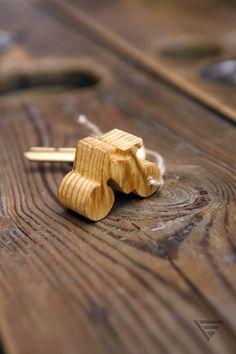 """Brelok drewniany """"Bajsikol"""" w Piąty Element na DaWanda.com"""