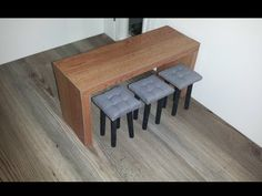 How to make Doll Bar Stools and Table - YouTube