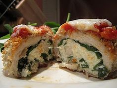 skinnytaste's chicken spinach rollatini... healthy and DELICIOUS!.