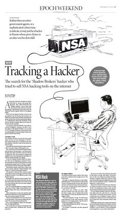 Tracking a Hacker|Epoch Times #newspaper #editorialdesign