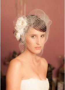 Voiles mariée, bonnet en dentelle et voilettes pour mariage rétro ou bohème - So Hélo