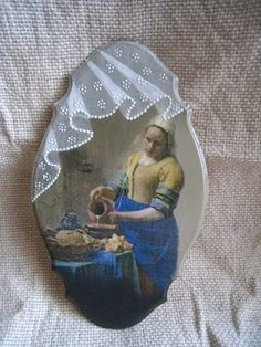 Lace Painting, One Stroke Painting, Painting On Wood, Decor Crafts, Diy And Crafts, Arts And Crafts, Lace Drawing, Tole Decorative Paintings, Decoupage Wood