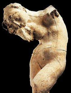 Beautifully composed image of 'Méditation' by French artist & sculptor Auguste Rodin Plaster, 54 x 18 x 15 cm. Auguste Rodin, Musée Rodin, Camille Claudel, Art Sculpture, Modern Sculpture, Abstract Sculpture, Sculpture Ideas, Metal Sculptures, Bronze Sculpture