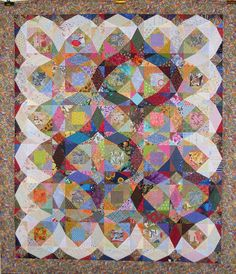 T - Storm of Scraps by Linda Rotz Miller Quilts & Quilt Tops, via Flickr