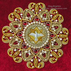 https://flic.kr/p/bzNwF4 | goldwork. hand embroidery. eight-pointed star | hand embroidery, Swarovski elements crystal  © Oleg Blazhko